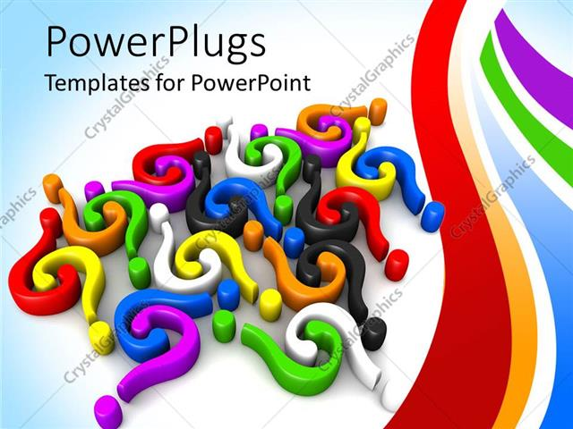 Powerpoint template 3d colorful question marks and for Powerpoint questions and answers template
