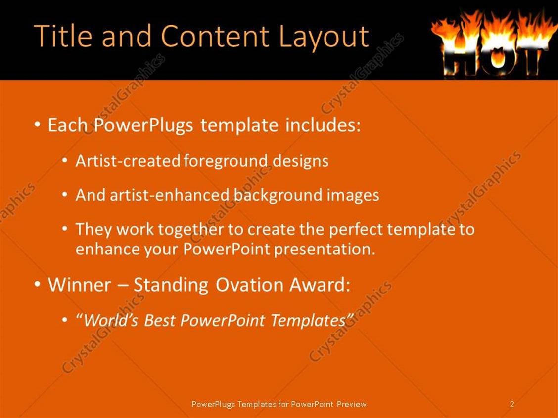 Powerpoint template 3d depiction of large hot text lit on fire powerpoint products templates secure standing ovation award toneelgroepblik Choice Image