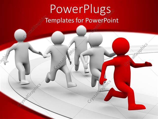 Powerpoint template a 3d design giving the concept of leadership powerpoint template displaying a 3d design giving the concept of leadership with white background toneelgroepblik Gallery