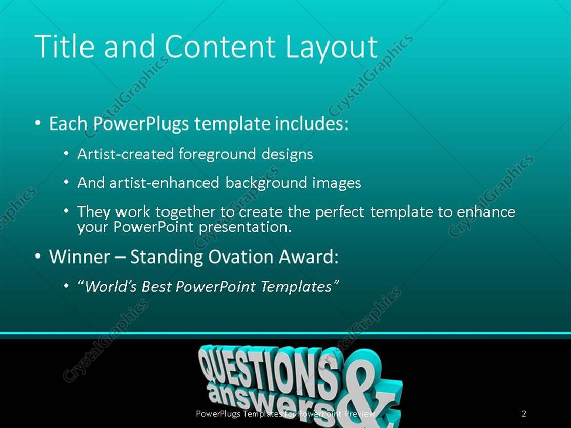 Powerpoint template 3d rendering of text questions answer on powerpoint products templates secure alramifo Choice Image
