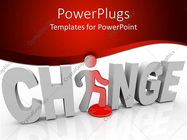Powerpoint template 3d word change with white letters and a figure powerpoint template displaying 3d word change with white letters and a figure replacing letter a in word toneelgroepblik Image collections