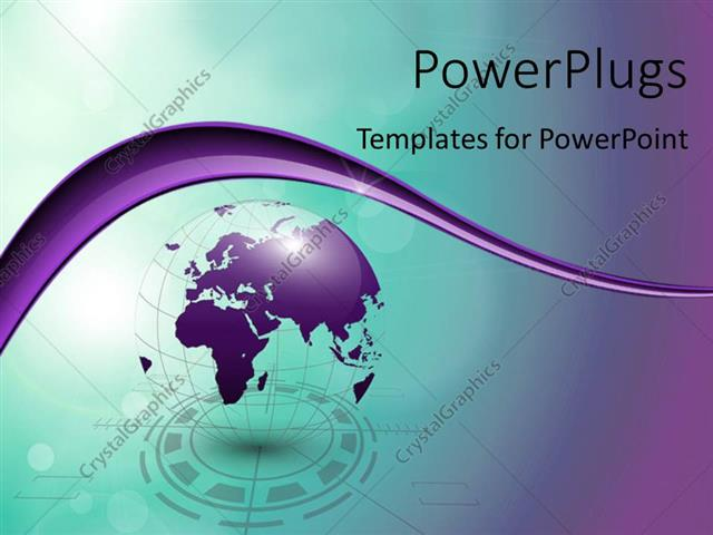 PowerPoint Template Displaying Abstract 3D Tech Globe with Colors