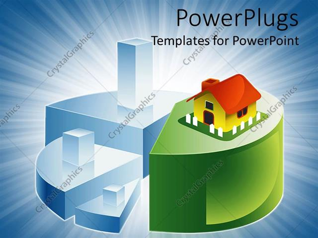 Powerpoint Template Abstract Animation Of A Pie Chart With A House