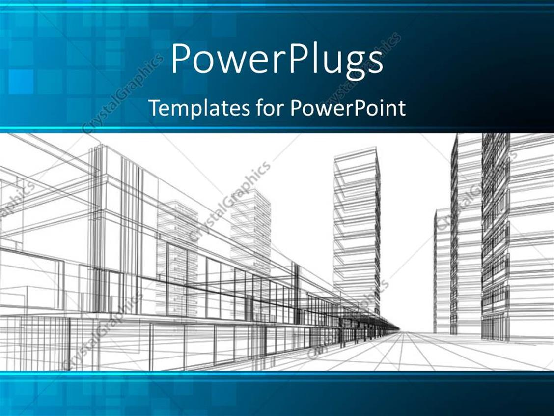 Powerpoint Template An Abstract Architectural Drawing Of Some Sky