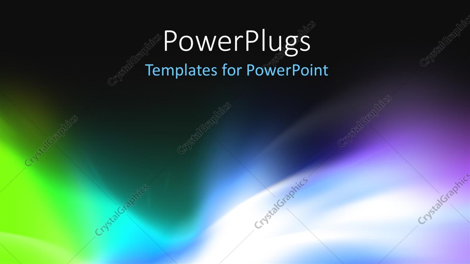 PowerPoint Template Displaying Abstract Background for Design Visualizing Motion and Energy