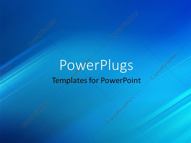 PowerPoint Template Displaying Abstract Background with Glowing Diagonal Stripes Effect