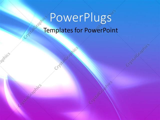 PowerPoint Template: Abstract background with light glow and wavy