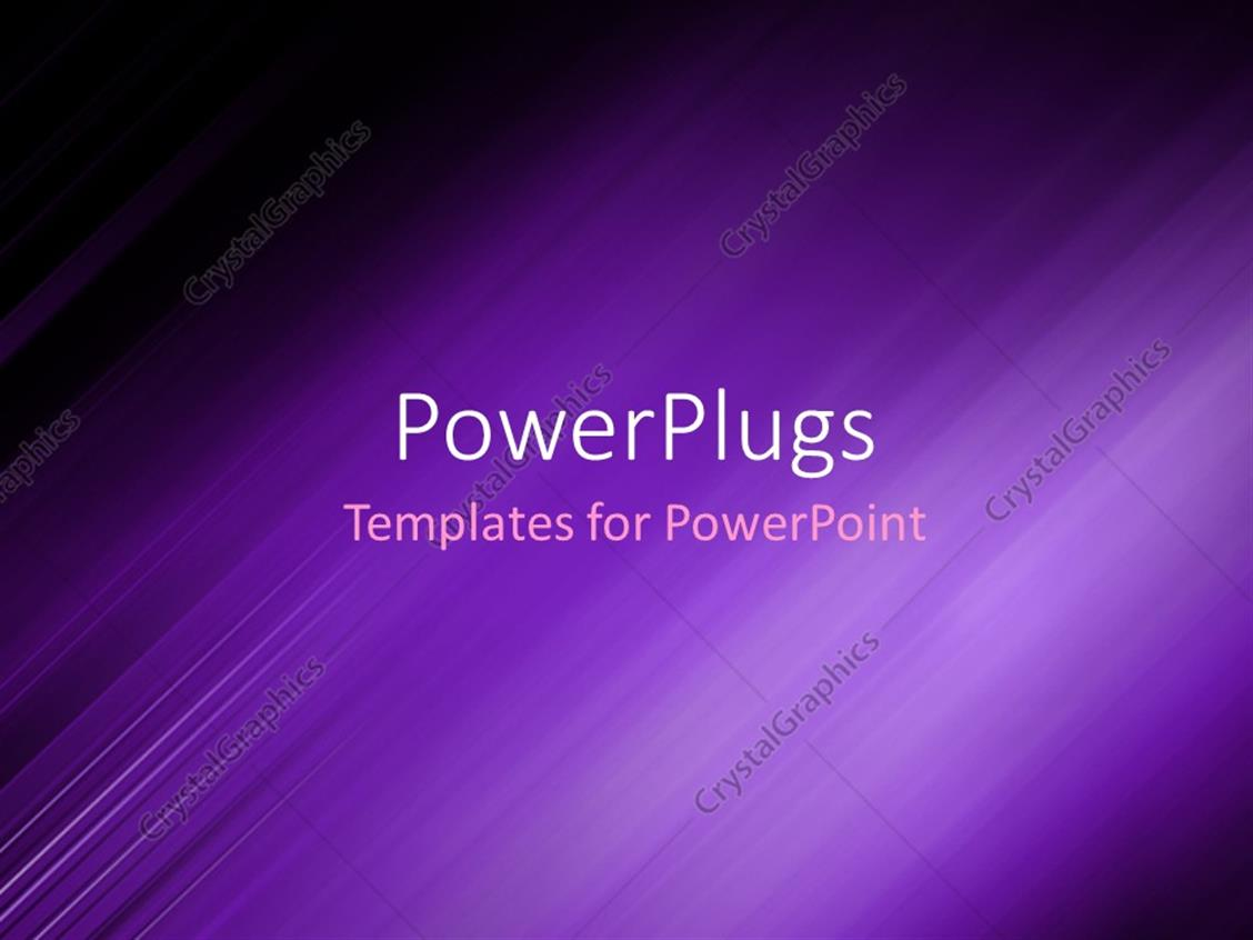 PowerPoint Template Displaying Abstract Background Showing Purple Motion Blur with Dark Edges