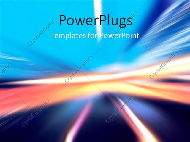 PowerPoint Template: Abstract background with wavy glowing lines and