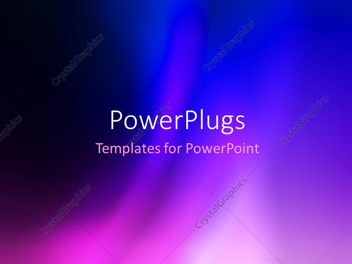 PowerPoint Template Displaying Abstract Beautiful Blue and Purple Colorful Blur Background