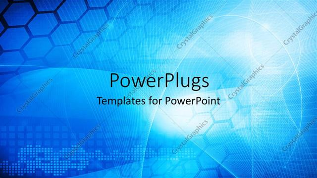 Powerpoint Template Abstract Blue Colored Technology Theme With