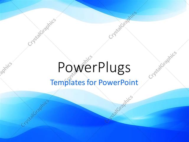 Powerpoint Template Abstract Blue Waves On White Background 933