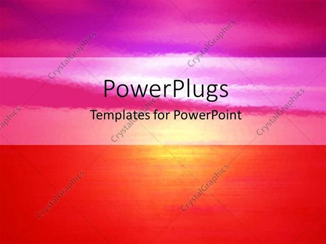 Powerpoint Template Abstract Blurred Vision Of Sunset Over Ocean