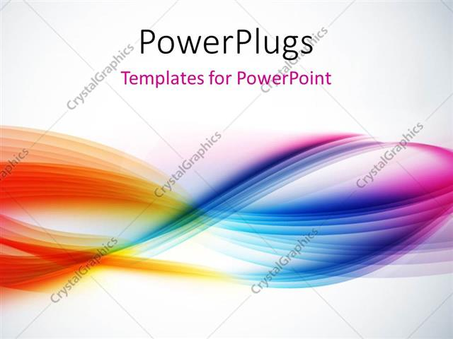 Powerpoint template abstract colorful waves with light grey color 451 powerpoint template displaying abstract colorful waves with light grey color toneelgroepblik Images