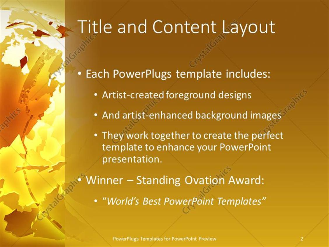 Powerpoint template abstract deconstructed globe on gold powerpoint products templates secure toneelgroepblik Image collections