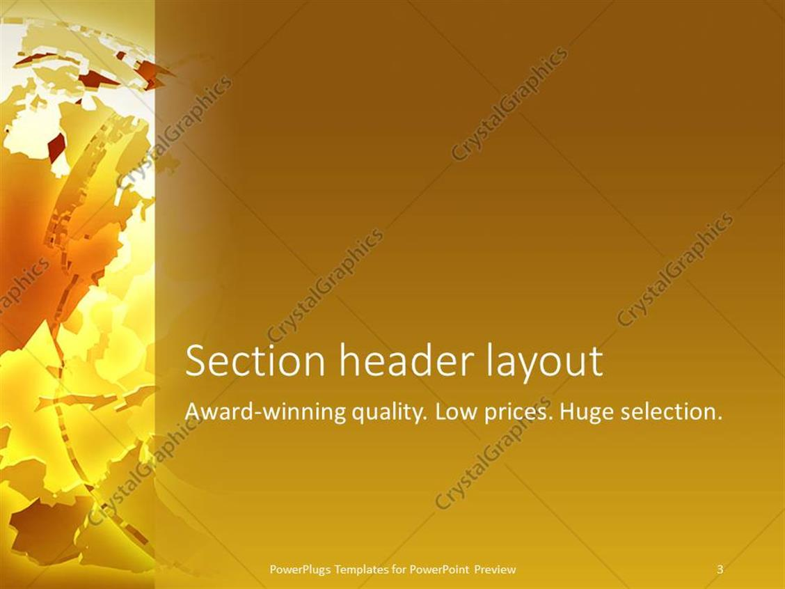 Powerpoint template abstract deconstructed globe on gold powerpoint products templates secure toneelgroepblik Gallery