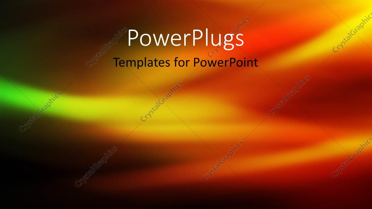 PowerPoint Template Displaying Abstract Depiction of Gold Green Red and Black Color