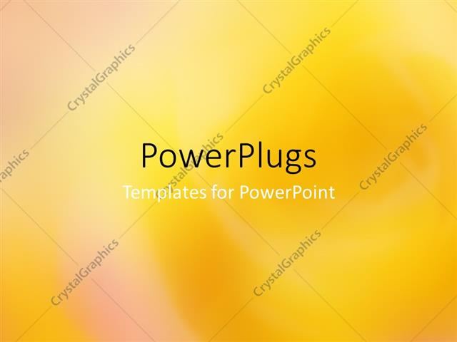 powerpoint template an abstract depiction of a plain yellow colored