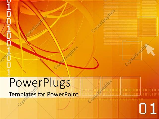 PowerPoint Template: Abstract digital depiction with binary digits ...