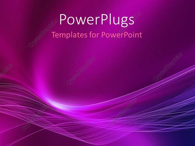 Powerpoint Template Abstract Energy Movement With Purple Color 427