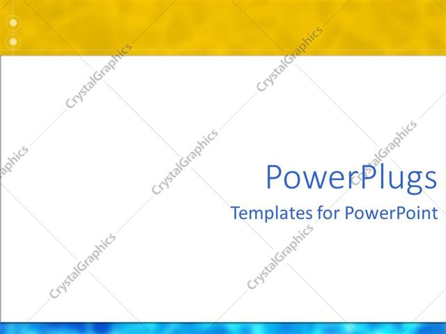 Powerpoint Template Abstract Fuse Yellow And Blue Frames With White