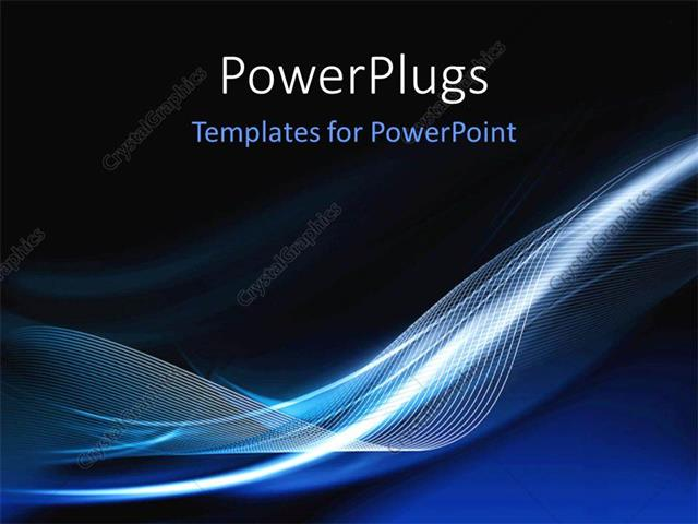 Powerpoint Template Abstract Futuristic Modern Background With Waves 13166