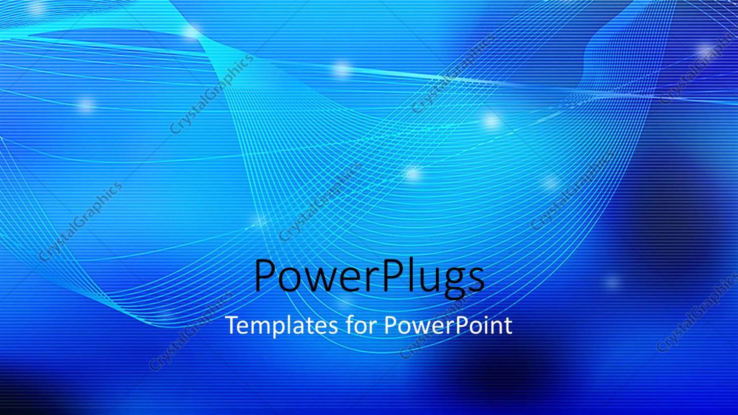 PowerPoint Template Displaying a Bluish Background with a Palce for Text