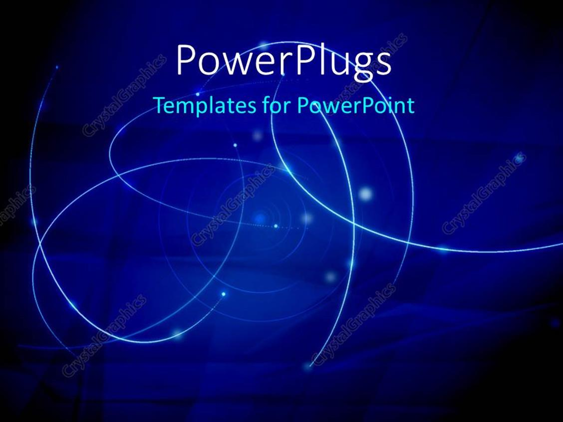 PowerPoint Template Displaying Abstract Galaxy Waves with Blue Color