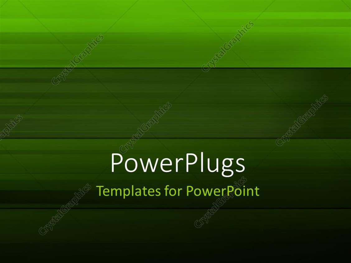 PowerPoint Template Displaying Abstract Green Colored Stripes Background