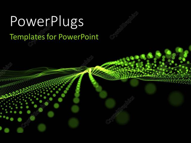Powerpoint template abstract green lights on black background 1001 powerpoint template displaying abstract green lights on black background toneelgroepblik Images