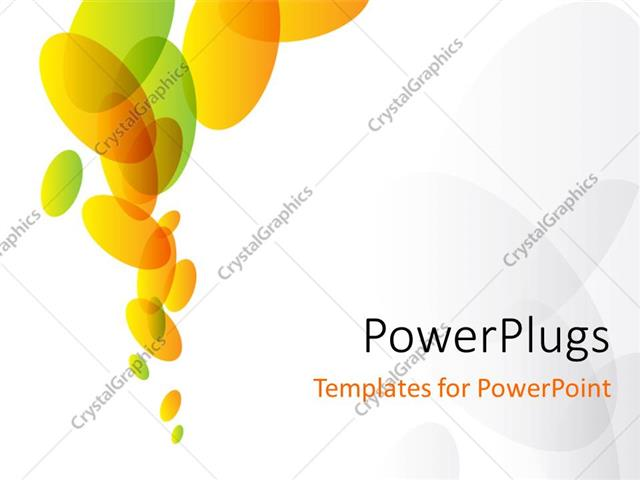 Powerpoint Template Abstract Green And Orange Ovals On White
