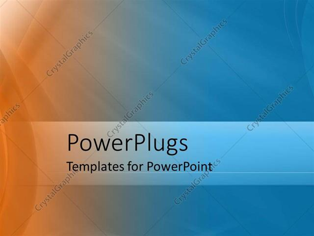 Powerpoint Template Abstract Illuminated Background With