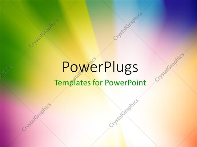 powerpoint template abstract multicolored sunburst or starburst