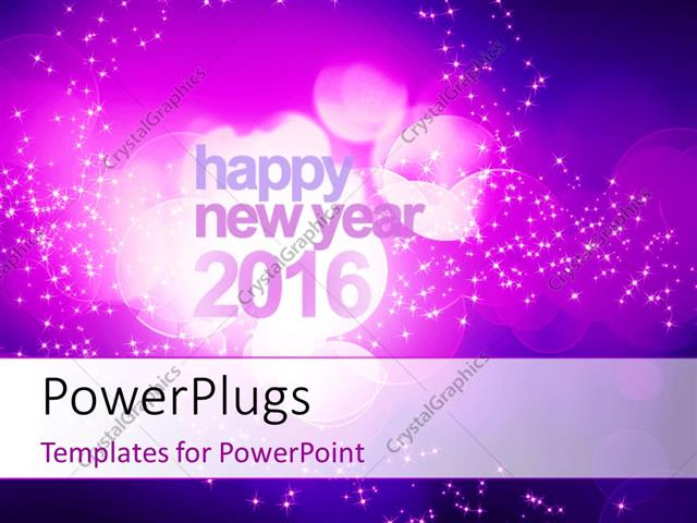 Powerpoint template abstract new year 2016 concept with purple powerpoint template displaying abstract new year 2016 concept with purple bokeh and sparkling effect in toneelgroepblik Gallery