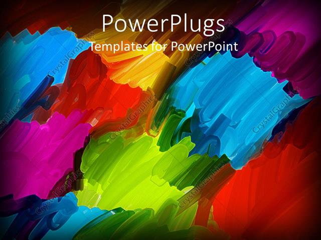 Powerpoint Template Abstract Oil Brush Art Background In