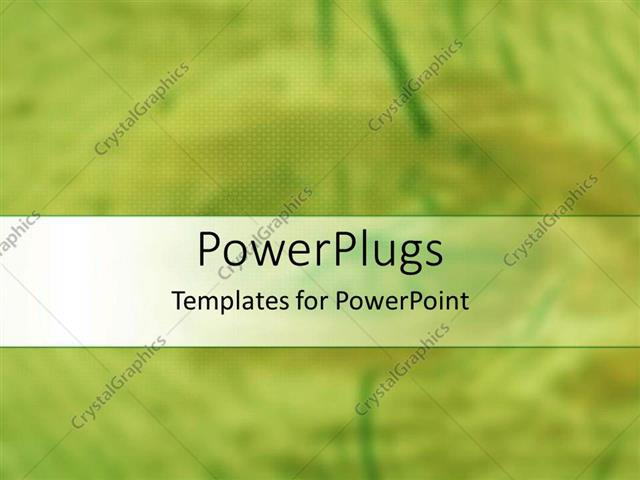 PowerPoint Template Displaying an Abstract Painting of a Light Green Blurry Background