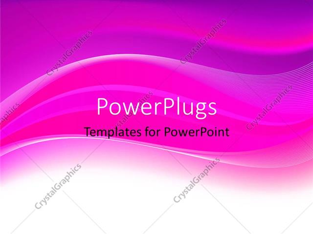 PowerPoint Template: Abstract purple themed background with wavy