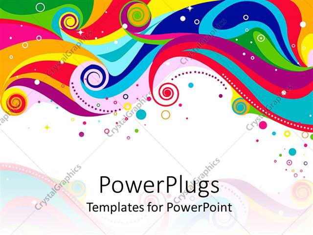 Powerpoint template abstract rainbow colored waves circles and powerpoint template displaying abstract rainbow colored waves circles and dots on white background toneelgroepblik Images