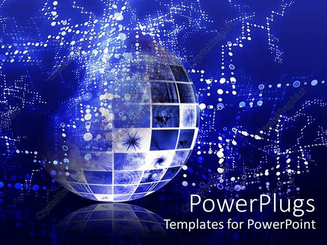 Powerpoint template abstract representation of globe depicting powerpoint template displaying abstract representation of globe depicting technical data information toneelgroepblik Choice Image