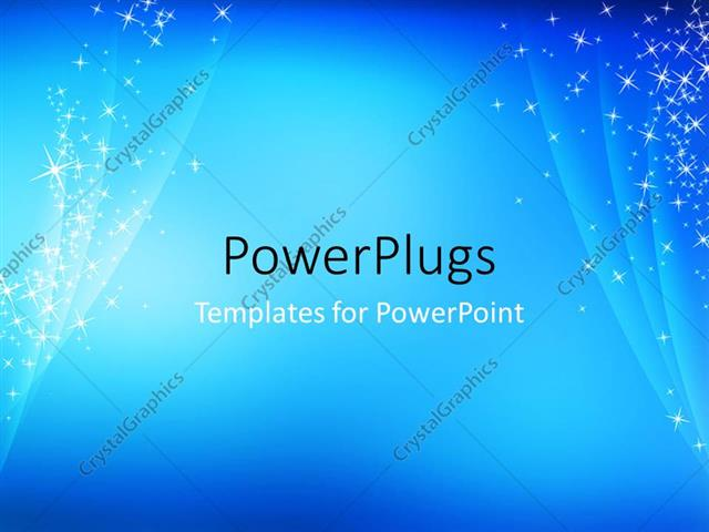 powerpoint template abstract simple cool blue sparkling