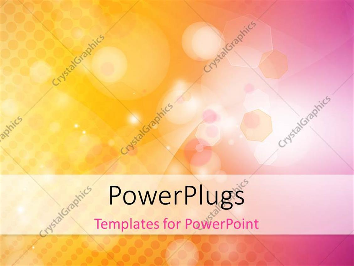PowerPoint Template Displaying Abstract Technology with Different Shapes