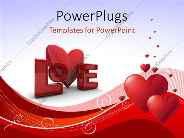 Powerpoint template abstract valentines day background with heart powerpoint template displaying abstract valentines day background with heart shapes curves and word love toneelgroepblik Image collections