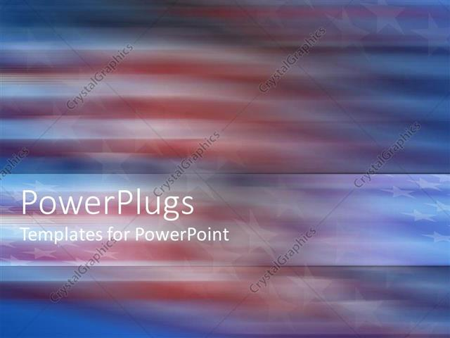 powerpoint template abstract view of american flag with swirling