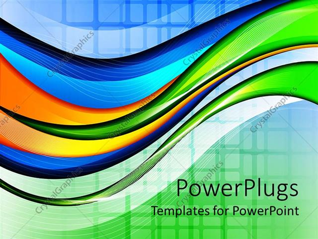 Powerpoint Template Abstract Wave And Grid Background In