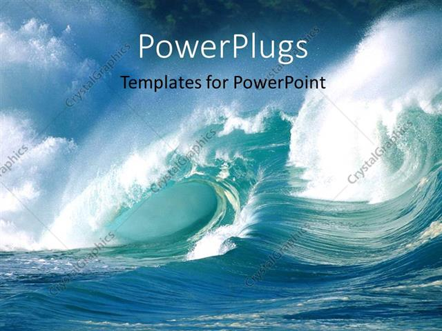 Powerpoint Template An Action Shot Of Ocean Waves Crashing 22407