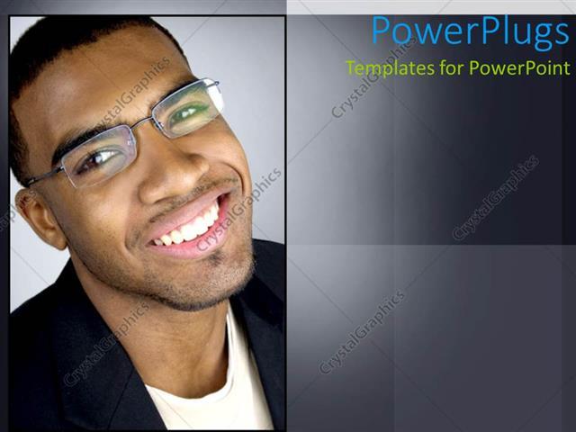 Powerpoint template african american man dressed corporate and powerpoint template displaying african american man dressed corporate and wearing glasses smiling toneelgroepblik Choice Image