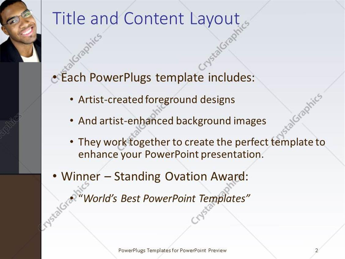 Powerpoint template african american man dressed corporate and powerpoint products templates secure toneelgroepblik Choice Image