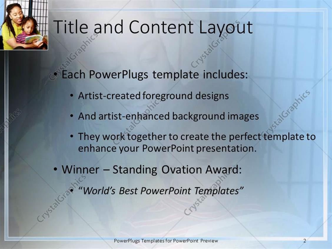Powerpoint template african american mother with kid on her laps powerpoint products templates secure toneelgroepblik Images