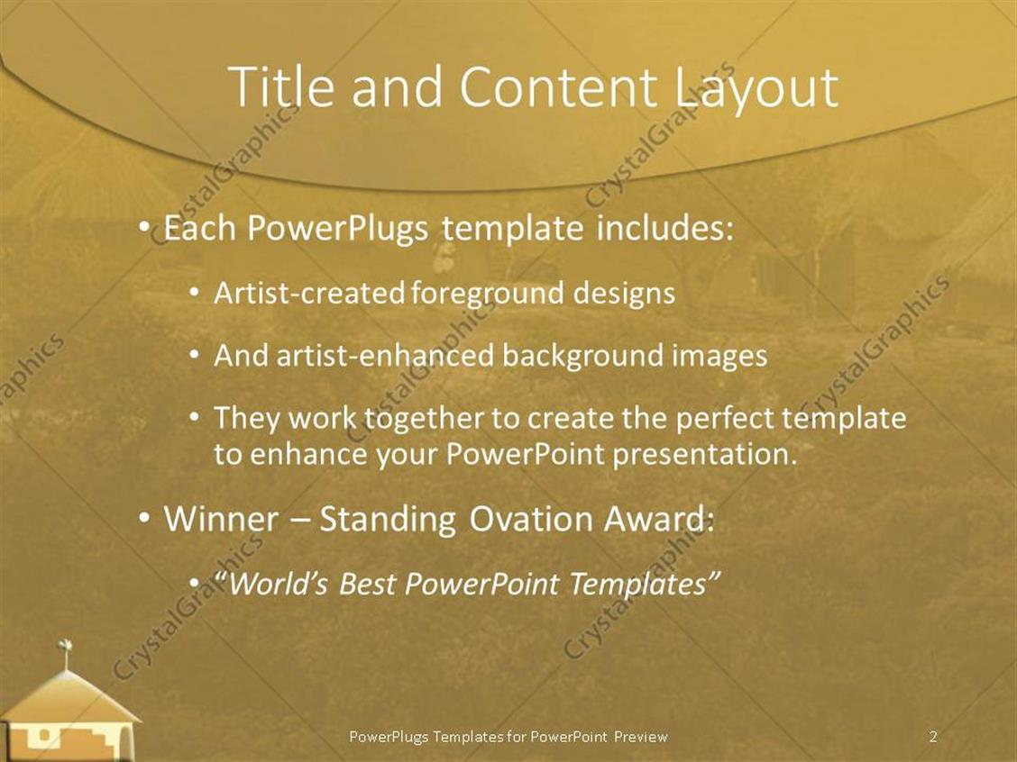 Powerpoint template african village setting with mordern hurt in powerpoint products templates secure toneelgroepblik Images