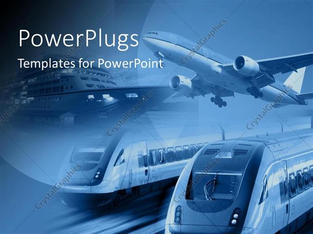 Powerpoint templates transportation gallery template design free 30 powerpoint templates transportation powerpoint templates powerpoint template airplane train and ship at one place with blue toneelgroepblik Image collections